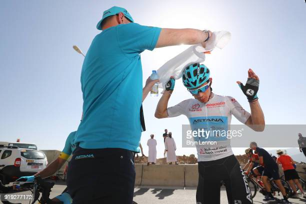 9th Tour of Oman 2018 / Stage 5 Arrival / Miguel Angel Lopez of Colombia White Best Young Rider Jersey / Samail Jabal Al AkhdharGreen Mountain 1235m...