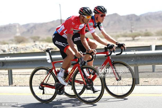 9th Tour of Oman 2018 / Stage 5 Greg Van Avermaet of Belgium Red Leader Jersey / Michael Schar of Switzerland / Samail Jabal Al AkhdharGreen Mountain...