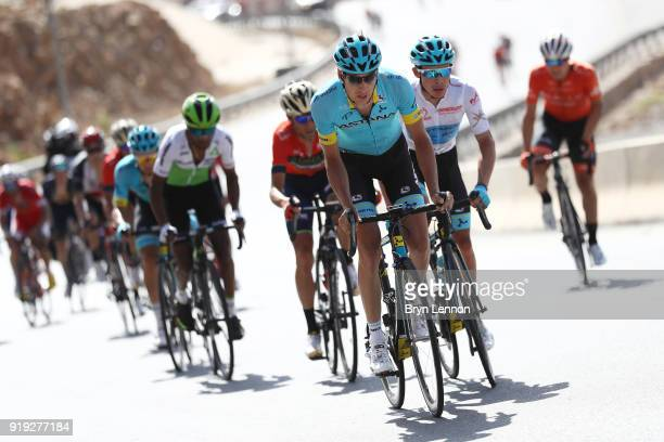 9th Tour of Oman 2018 / Stage 5 Jan Hirt of Czech Republic / Miguel Angel Lopez of Colombia White Best Young Rider Jersey / Samail Jabal Al...