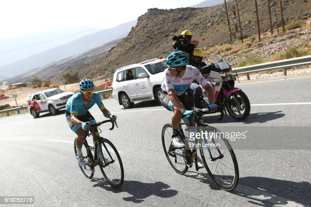 9th Tour of Oman 2018 / Stage 5 Miguel Angel Lopez of Colombia White Best Young Rider Jersey / Alexey Lutsenko of Kazakhstan / Samail Jabal Al...
