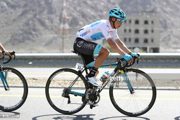 9th Tour of Oman 2018 / Stage 5 Miguel Angel Lopez of Colombia / White Best Young Rider Jersey Samail Jabal Al AkhdharGreen Mountain 1235m / Oman...