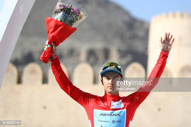 9th Tour of Oman 2018 / Stage 5 Podium / Alexey Lutsenko of Kazakhstan Red Leader Jersey Celebration / Samail Jabal Al AkhdharGreen Mountain 1235m /...