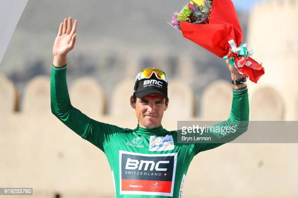 9th Tour of Oman 2018 / Stage 5 Podium / Greg Van Avermaet of Belgium Green Sprint Jersey / Celebration / Samail Jabal Al AkhdharGreen Mountain 1235m...
