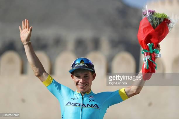 9th Tour of Oman 2018 / Stage 5 Podium / Miguel Angel Lopez of Colombia Celebration / Samail Jabal Al AkhdharGreen Mountain 1235m / Oman Tour /