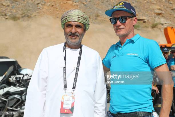 9th Tour of Oman 2018 / Stage 5 Salim Al Hasani of Oman Race Organiser / Alexander Vinokourov of Kazakstan / owner Astana Pro Team of Kazakstan /...