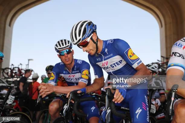 9th Tour of Oman 2018 / Stage 5 Start / Eros Capecchi of Italy / Tim Declercq of Belgium / Samail Jabal Al AkhdharGreen Mountain 1235m / Oman Tour /