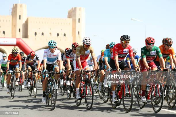 9th Tour of Oman 2018 / Stage 5 Start / Miguel Angel Lopez of Colombia White Best Young Rider Jersey / Loic Chetout of France Gold Most Aggressive...