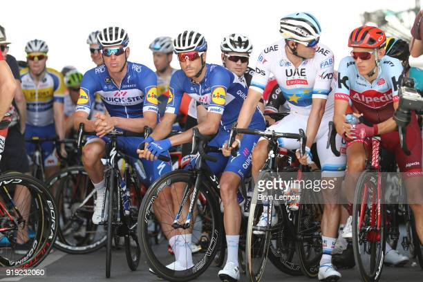 9th Tour of Oman 2018 / Stage 5 Start / Nils Politt of Germany / Alexander Kristoff of Norway / Eros Capecchi of Italy / Tim Declercq of Belgium /...