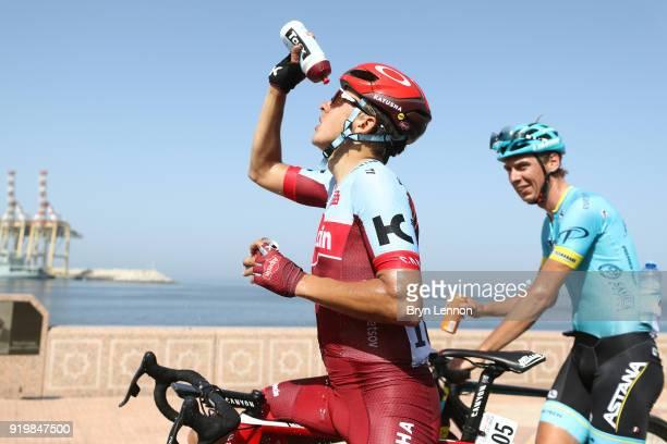 9th Tour of Oman 2018 / Stage 6 Arrival / Viacheslav Kuznetsov of Russia / Al Mouj Muscat Matrah Corniche / Oman Tour /