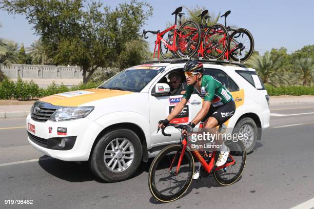 9th Tour of Oman 2018 / Stage 6 Greg Van Avermaet of Belgium Green Sprint Jersey / Team BMC Racing Team / Car / Al Mouj Muscat Matrah Corniche / Oman...