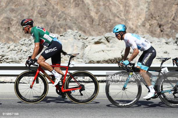 9th Tour of Oman 2018 / Stage 6 Greg Van Avermaet of Belgium Green Sprint Jersey / Miguel Angel Lopez of Colombia White Best Young Rider Jersey / Al...