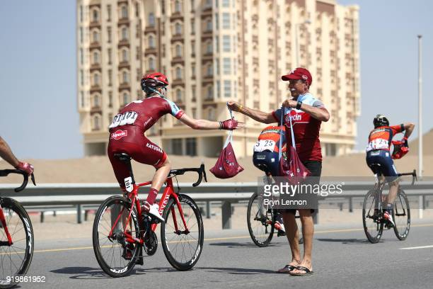 9th Tour of Oman 2018 / Stage 6 Ian Boswell of The United States / Team Katusha Alpecin / Feed Zone / Al Mouj Muscat Matrah Corniche / Oman Tour /