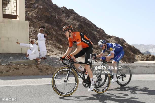 9th Tour of Oman 2018 / Stage 6 Pim Ligthart of The Netherlands / Remi Cavagna of France / selfie / fan Al Mouj Muscat Matrah Corniche / Oman Tour /