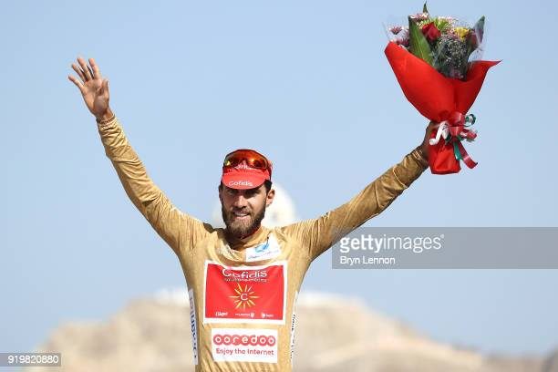9th Tour of Oman 2018 / Stage 6 Podium / Loic Chetout of France Gold Mountain Jersey / Celebration / Al Mouj Muscat Matrah Corniche / Oman Tour /