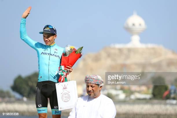 9th Tour of Oman 2018 / Stage 6 Podium / Miguel Angel Lopez of Colombia / Celebration / Al Mouj Muscat Matrah Corniche / Oman Tour /