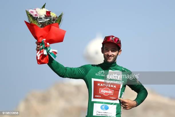 9th Tour of Oman 2018 / Stage 6 Podium / Nathan Haas of Australia Green Sprint Jersey / Celebration / Al Mouj Muscat Matrah Corniche / Oman Tour /