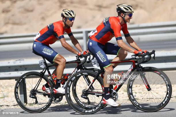 9th Tour of Oman 2018 / Stage 6 Vincenzo Nibali of Italy / Luka Pibernik of Slovenia / Al Mouj Muscat Matrah Corniche / Oman Tour /
