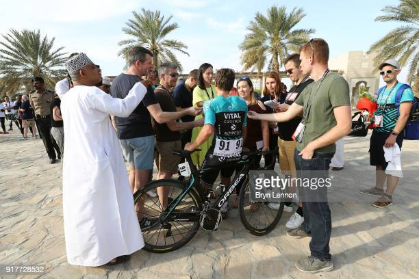 9th Tour of Oman 2018 / Stage1 Arrival / Bryan Coquard of France / Press / Media / Interview / Nizwa Sultan Qaboos University / Oman Tour /