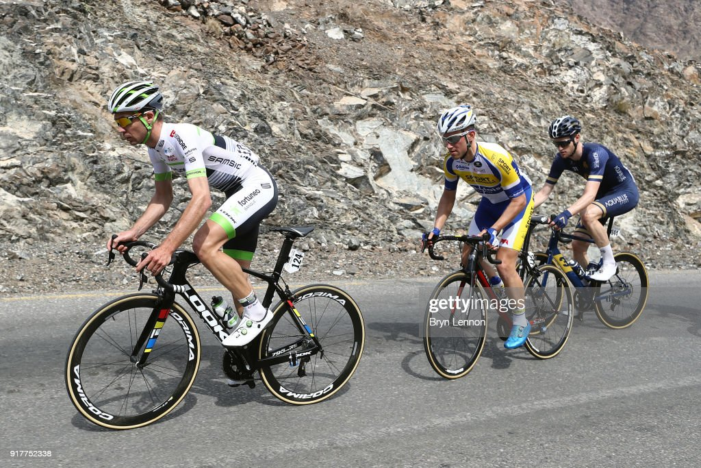 9th Tour of Oman 2018 / Stage1 Pierre-Luc Perichon of France / Maxime Farazijn of Belgium / Conor Dunne of Ireland / Nizwa - Sultan Qaboos University (162.5km)/ Oman Tour /
