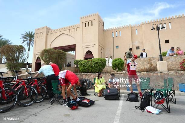 9th Tour of Oman 2018 / Stage1 Start / Nathan Haas of Australia / Nils Politt of Germany / Team Katusha Alpecin / Nizwa Sultan Qaboos University /...
