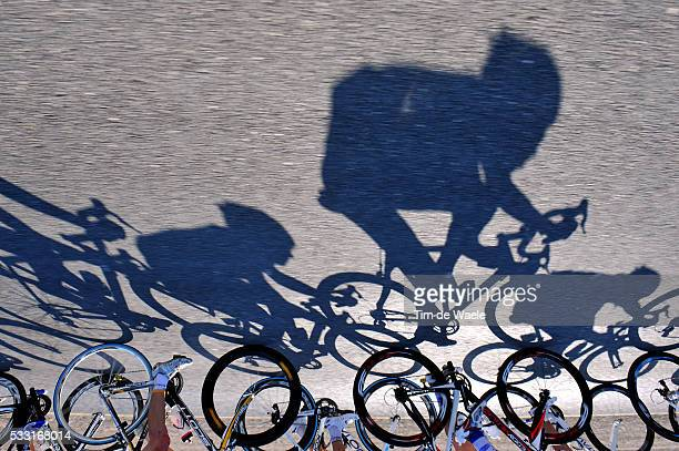 9th Tour of Qatar / Stage 2 Illustration Illustratie / Shadow Hombre Schaduw / Peleton Peloton / Camel Race Track - Qatar Foundation / Rit Etape /...