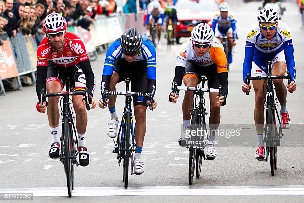 Albert Achterhes Pet Ronde van Drenthe 2014 Arrival/ Kenny DEHAES Scott THWAITES / Bert Jan LINDEMAN / Sander HELVEN / Tim De Waele