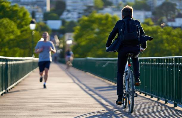 Cycling and jogging