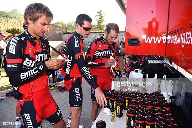 BMC Racing Team 2016 / Media Day VELITS PETER / HERMANS Ben / DRUCKER Jempy / Powerbar Ravitaillement Bevoorrading / Bottle Bidons Drinkbus / Equipe...