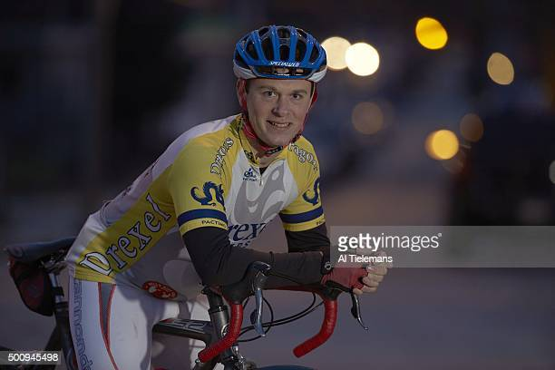 Brain Injury Special Report Portrait of amateur cyclist Doug Markgraf posing during photo shoot on Lancaster Avenue Markgraf who was struck by a...