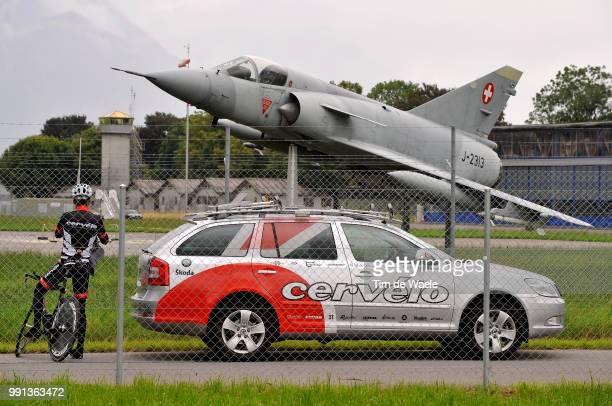 Cervelo Test Team Ttt Trainingillustration Illustratie Skoda Car Voiture Auto Plain Aircraft Avion Vliegtuig Team Time Trial Contre La Montre Par...