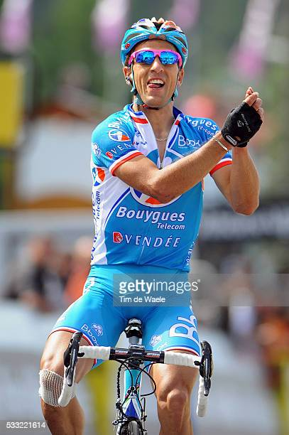 Criterium du Dauphine 2010 / Stage 4 Arrival / VOGONDY Nicolas Celebration Joie Vreugde / Saint-Paul-Trois-Chateaux - Risoul / Etape Rit / Tim De...