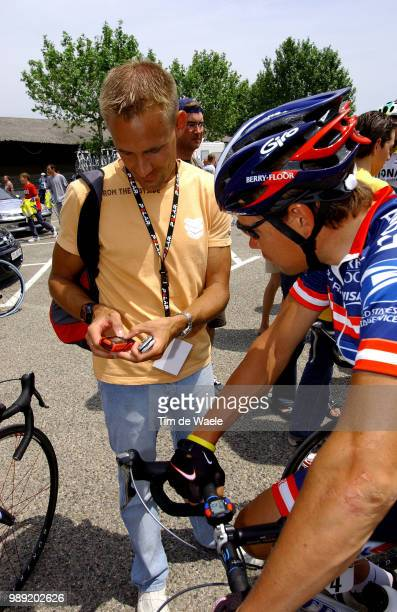 Dauphine Libere 2004Polar, Joona Lauka , Ekimov Viatcheslav Stage 5 : Bollene - Sisterontime Trial Contre La Montre Tijdrit