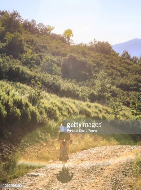 Cycling Downhill in Las Médulas
