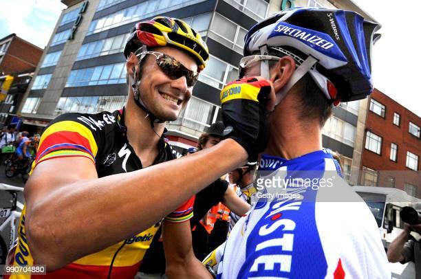 Eneco Tour 2009 Stage 3 Arrival Boonen Tom Hulsmans Kevin Celebration Joie Vreugde /Niel Hasselt /Rit Etape Tim De Waele