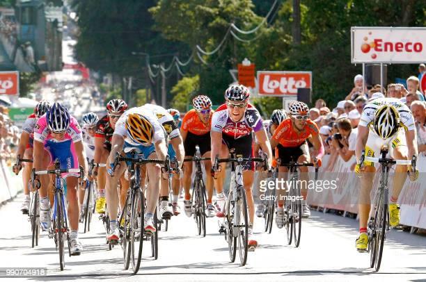 Eneco Tour 2009 Stage 4 Arrival Sprint Farrar Tyler Van Avermaet Greg Francesco Gavazzi / Edvald Boasson Hagen / Arrivee Aankomst /Hasselt Libramont...