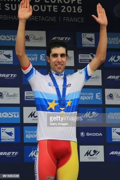 European Road Championships 2016, Elite Men'S Time Trial Podium, Jonathan Castroviejo Gold Medal/ Celebration, Plumelec - Plumelec //
