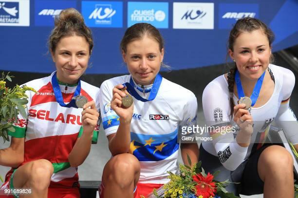 European Road Championships 2016, U23 Women'S Time Trial Podium, Kseniya Tuhai Silver Medal / Anastasiia Iakovenko Gold Medal, Lisa Klein Bronze...