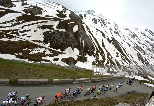 Giro D'Italia, Tour Of Italy Stage 14Illustration Illustratie, Peleton Peloton Landscape Paysage Mountains Montagnes Bergen, Savoldelli Paolo Pink...