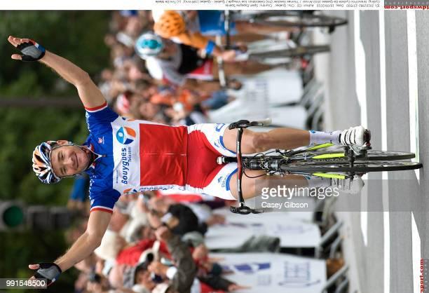 Grand Prix Cycliste De Quebec 2010Arrival Thomas Voeckler Celebration Joie Vreugde /Quebec Quebec / Tim De Waele