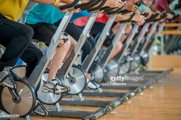 Cycling in a Fitness Class