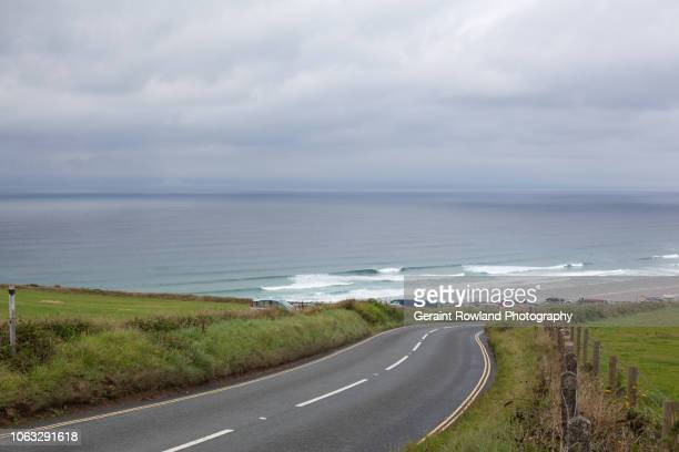 cycling in cornwall - ポーロック ストックフォトと画像