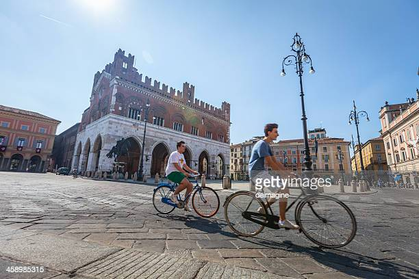 cycling in piacenza, italy - emilia romagna stock pictures, royalty-free photos & images
