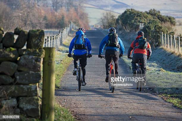 cycling in the eden valley, cumbria, england - cumbria stock pictures, royalty-free photos & images