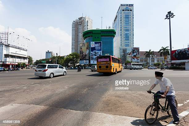 Cycling in the Traffic, Jakarta, Indonesia