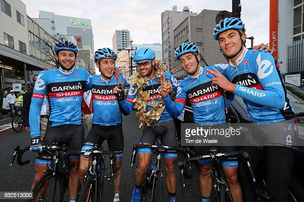 Japan Cup Criterium 2013 Arrival / VON HOFF Steele / Alex RASMUSSEN / Daniel MARTIN / Team Garmin Sharp / Celebration Joie Vreugde /...