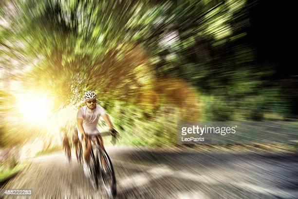 Radfahren auf die country road