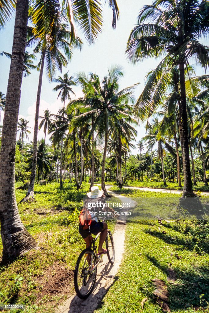 Cycling on Siargao Island : Stock Photo