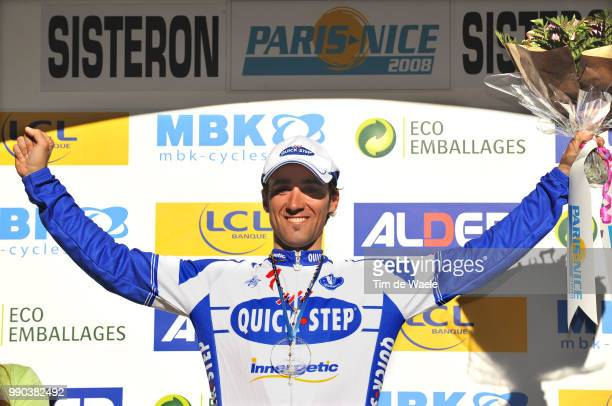 Paris Nice Stage 5Podium Carlos Barredo Celebration Joie Vreugde AlthenDesPaluds Sisteron Etape Rit Tim De Waele