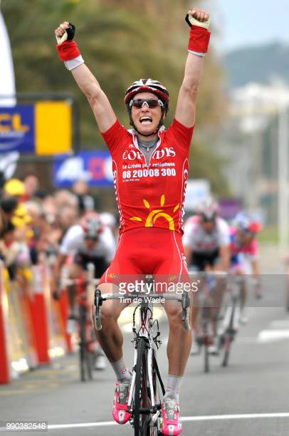 Paris - Nice, Stage 6Arrival, Sylvain Chavanel Celebration Joie Vreugde, Luis Leon Sanchez White Jersey, Bobby Julich , Damiano Cunego /Sisteron -...