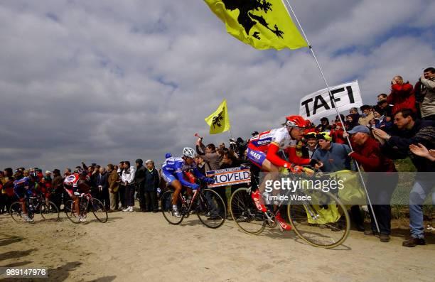 Paris Roubaix 2004Illustration Illustratie Paysage Landscpa Landschap Fans Supporters Drapeau Flag Vlag Dierckxsens Ludo Knaven Servais World Cup...